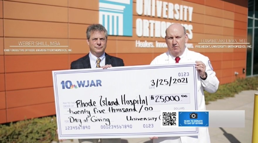 University Orthopedics supports Rhode Island Hospital's Day of Giving
