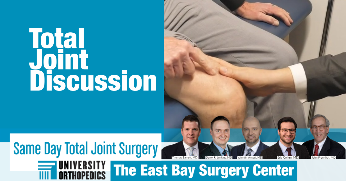 What you need to know about same-day joint replacement at UOI's East Bay Surgery Center
