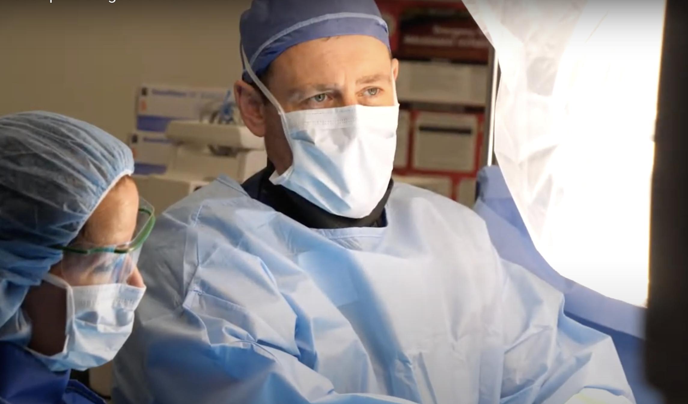 University Orthopedics' Dr. Czerwein performs revolutionary robotic spine surgery